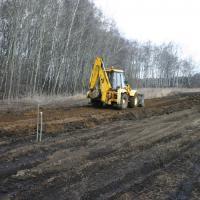 Начало строительства дороги в апреле и мае 2009г