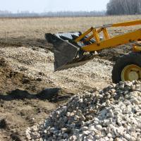 Начало строительства дороги в апреле и мае 2009г.
